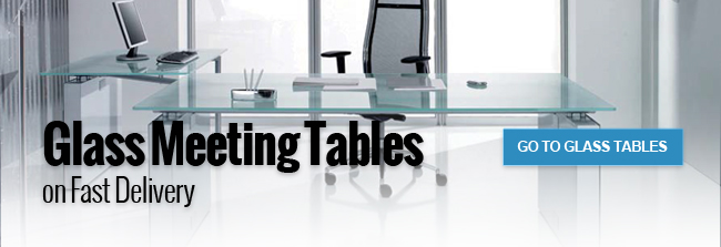 Glass Meeting Tables on fast delivery