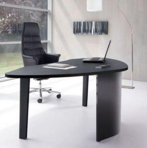 Inveo Executive Desk in Black Ash