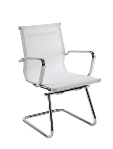 White Mesh Chairs Breeze Cantilever