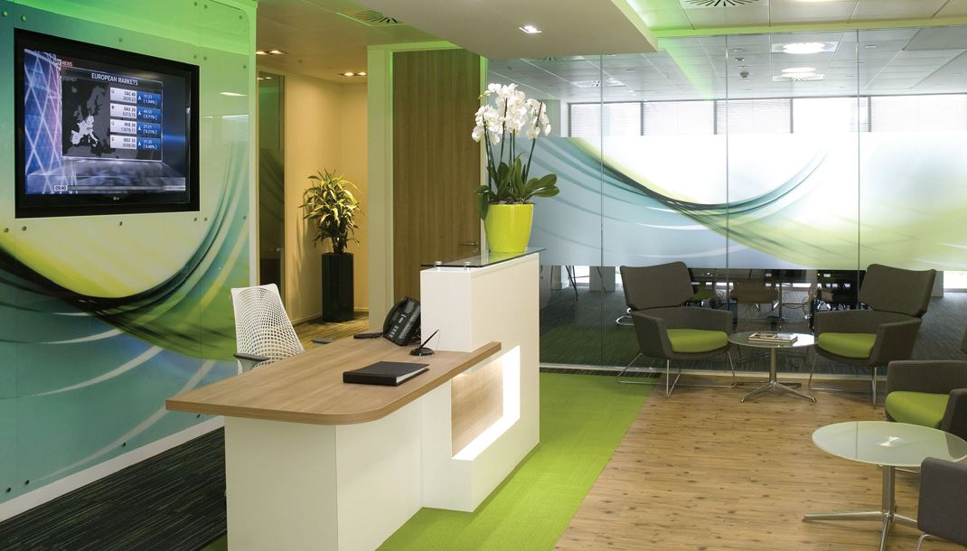 Image gallery receptionist area for Office area design