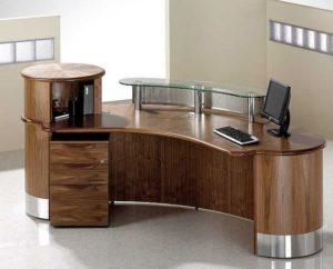 Reception Unit Walnut Finish