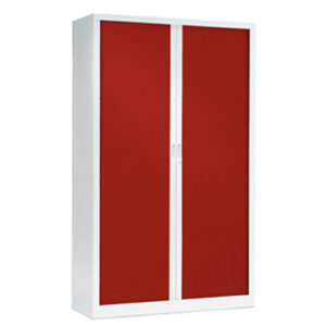 Red Tambour Cupboards