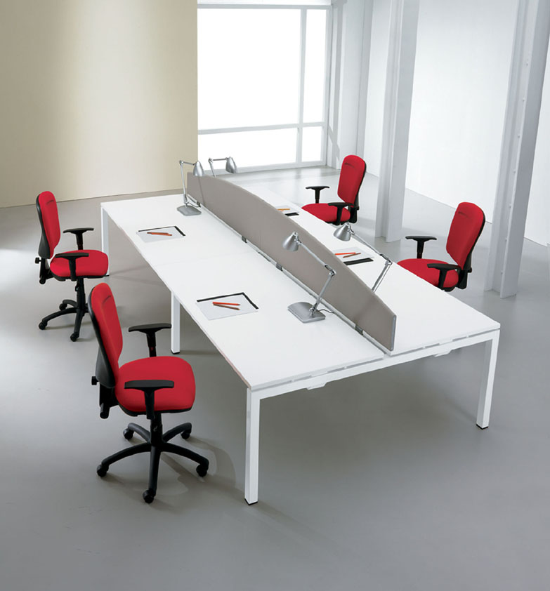 White Desks White Office Furniture from stock Solutions 4 Office