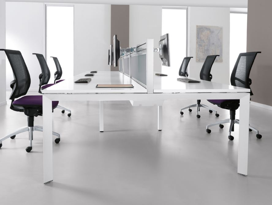 White Desks White Office Furniture From Stock