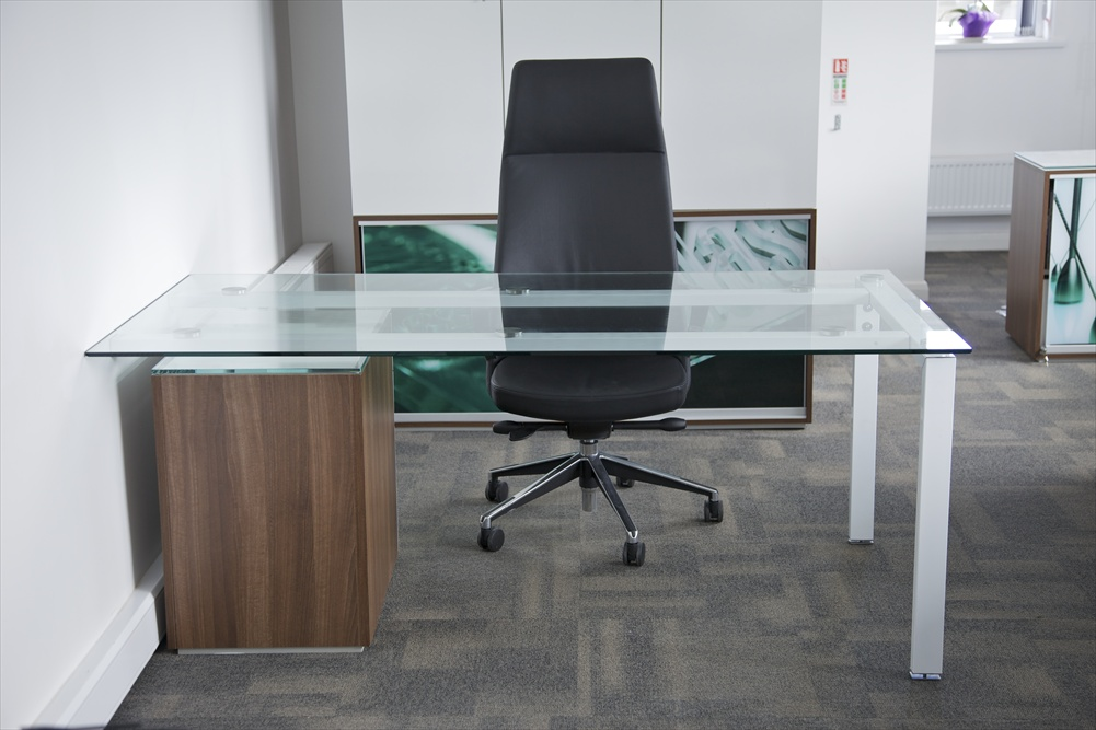 Glass Office Desks | Executive Glass Desks | Solutions 4 Office