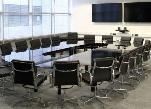Glass Meeting Table Race Track Shape