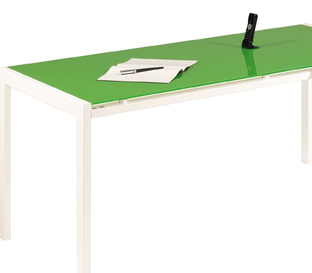 Green Glass Meeting Table