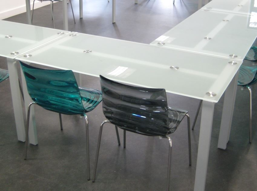Small Glass Meeting Table