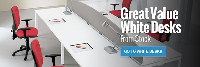 Great Value White Desks from stock