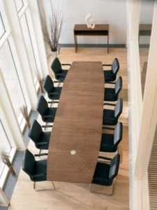 Barrel Shaped Boardroom Table