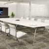Executive White Boardroom Table