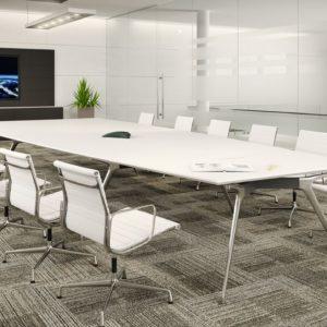 Executive White Boardroom Table