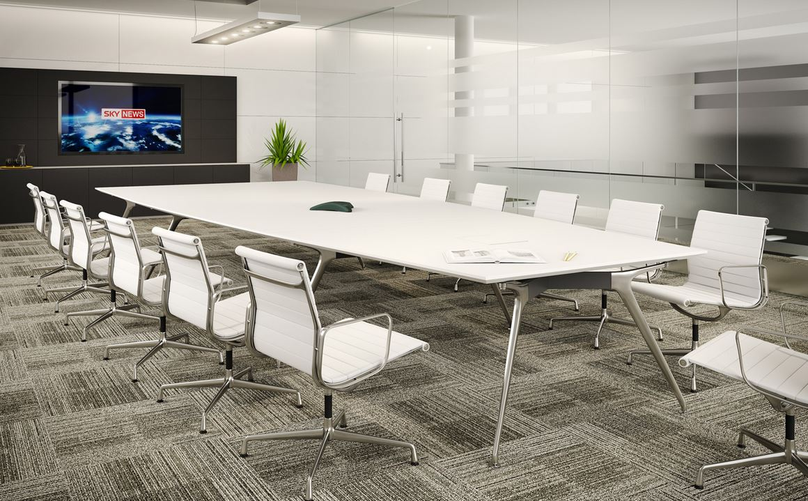 Meeting Furniture Boardroom Furniture Boardroom Tables - Large white conference table