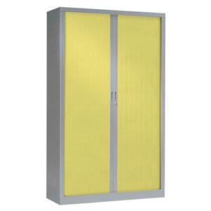 Green Tambour Storage Doors