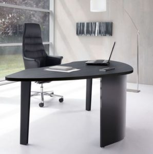 Inveo Executive Desk in Black Ash