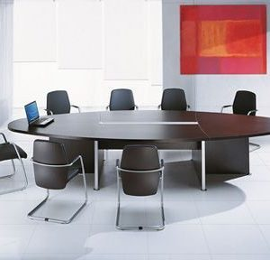 Elliptical Meeting Table