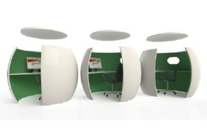 Office Pods with Sound Absorbing Ceilings