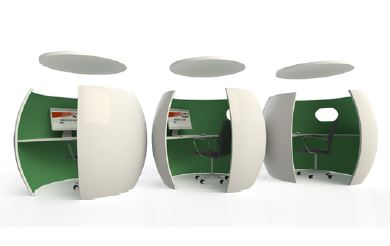 office pods. Office Pods With Sound Absorbing Ceilings
