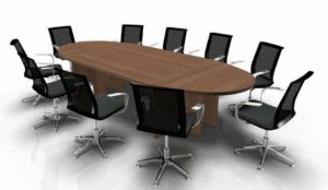 Panel Leg Meeting Table