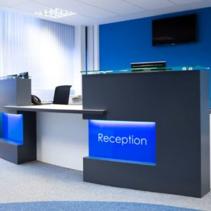 Reception Desk Light in Blue