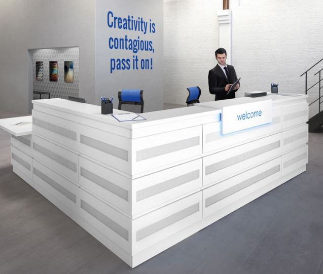 Office reception furniture office reception desks for Furniture quick delivery