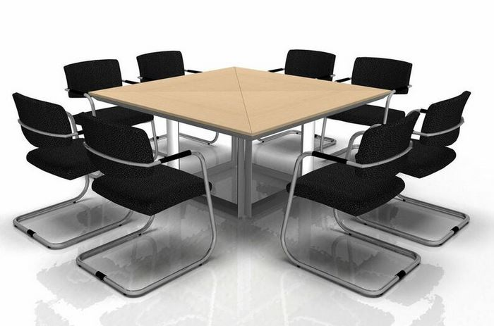 Square Conference Table Best Home Interior - Large square conference table