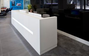 White Reception Counter