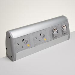 Power supply for desks