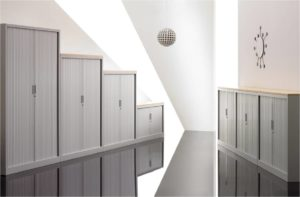 Tambour storage cupboards