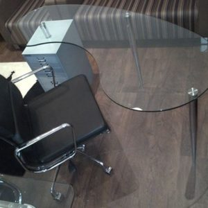 Glass Desks Kidney Shaped