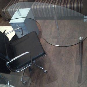 Glass Desks Kidney Shaped