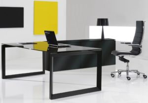 Black Glass Desks