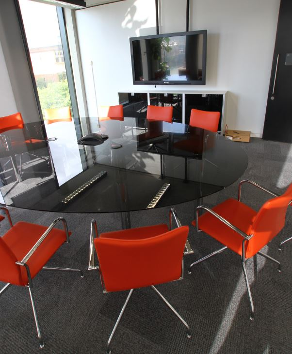 Glass Meeting Tables Glass Boardroom Tables Solutions Office - Black glass conference table