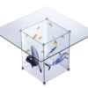 Designer Glass Meeting Tables with logo