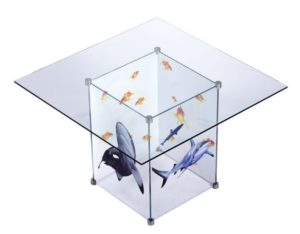 colour printed glass meeting table