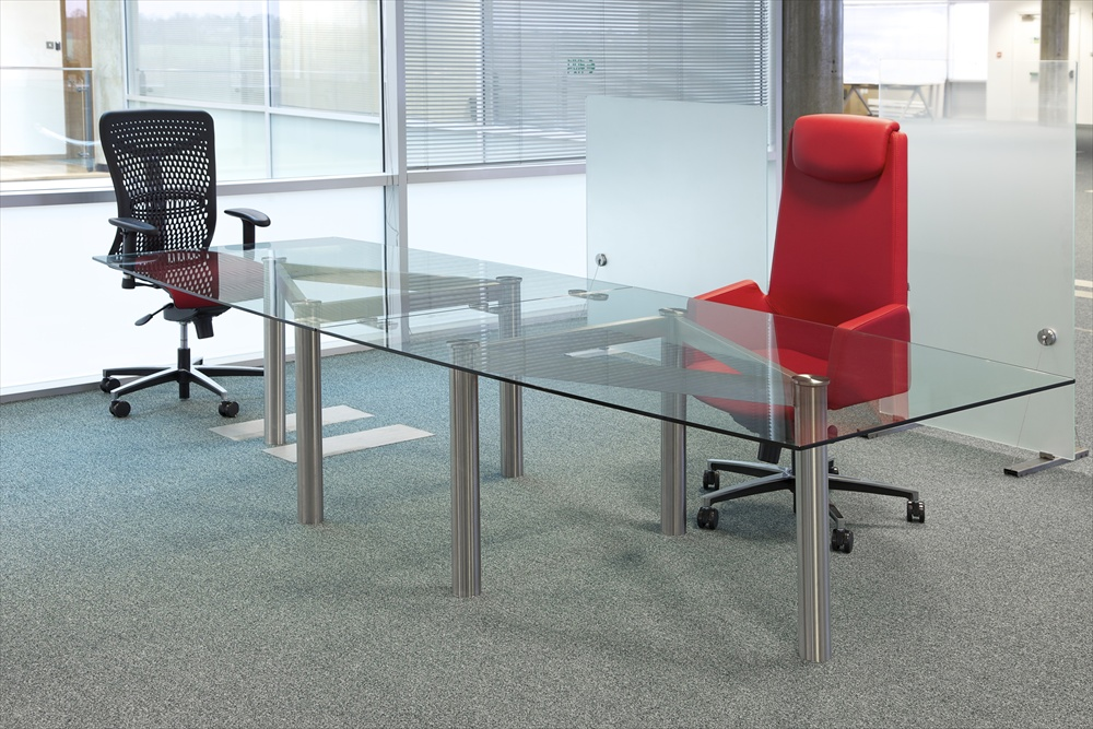 Large Glass Meeting Tables