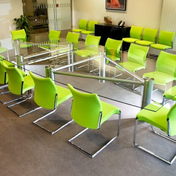 Multi Section Glass Conference Table