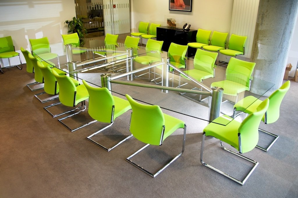 Glass Meeting Tables Glass Boardroom Tables Solutions Office - Conference table shapes