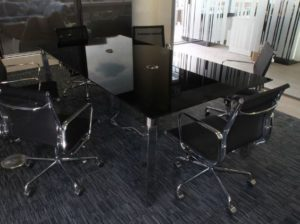 Black Glass Meeting Table