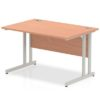 Budget Desk in beech with Cantilever frame
