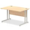 Budget Desk in maple with Cantilever frame