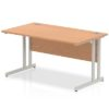Budget Desk in oak with Cantilever frame