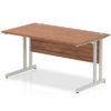 Budget Desk in walnut with Cantilever frame
