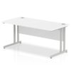 Budget Desk in white with Cantilever Frame