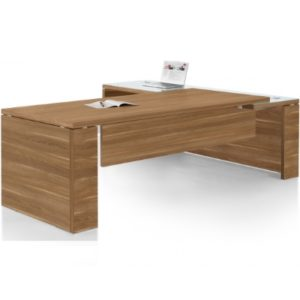 Prime Executive Desk L shaped in Walnut