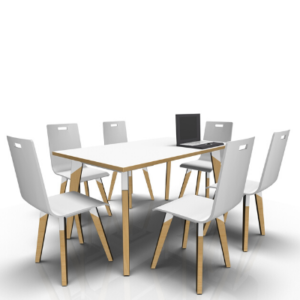 6 person meeting table