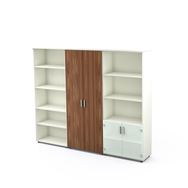 Armand Storage Units shown with hinged doors
