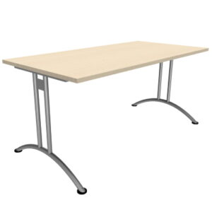 Rectangle Catering Canteen Table in Light Oak Top