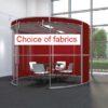 Circular Office Pods in red