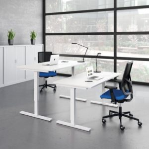 Adjustable Standing Desk in white finish